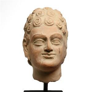 Gandhara Terracotta Head of a Man, c. 2nd-3rd Century