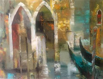 Abstract oil painting Venice Anatoly Borisovich