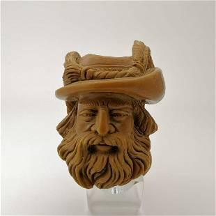 Cavalier Big Bowl,Hand carved Meerschaum Pipe