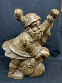 Carved Wood Santa Claus Paper Mache Mold