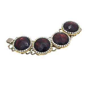 Bold Bracelet w/Purple Stone