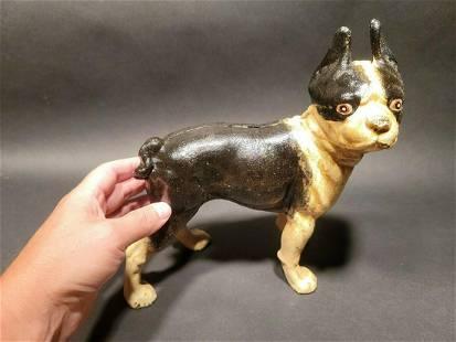 Cast Iron Boston Terrier Dog Door Stop Coin Bank