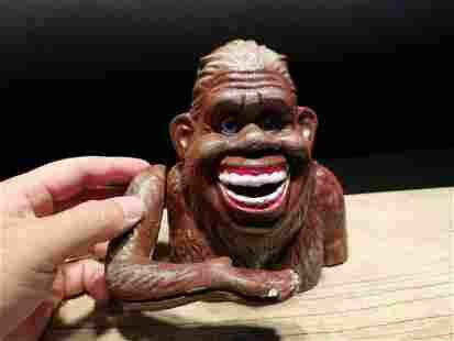 Cast Iron Happy Bigfoot Sasquatch Coin Bank