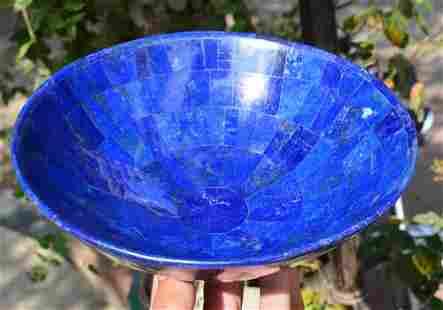 735 Grams Top Blue Lapis Lazuli Bowl