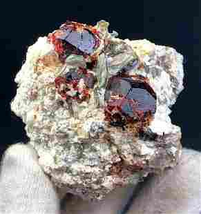 Natural Garnet Specimen , Red Almandine Garnet Mineral