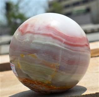 760 Grams Beautiful Banded Onix Sphere ~ 80 Mm