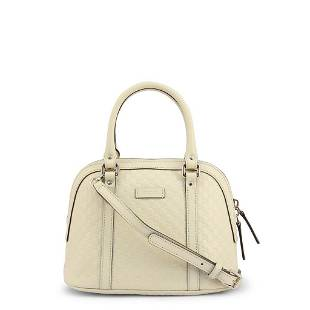 Gucci Ivory GG Leather Handbag