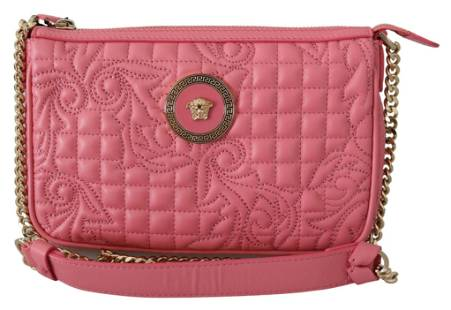 Versace Quilted Nappa Leather Clutch Handbag