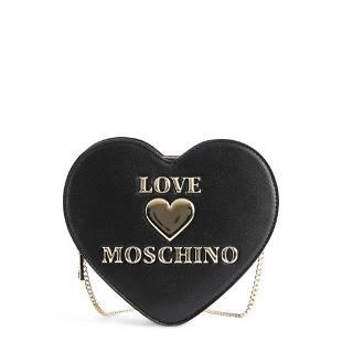 Love Moschino Black Heart Shaped Crossbody Bag