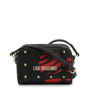 Love Moschino Gold and Black Crossbody Bag