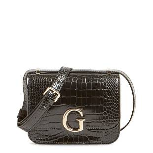 Guess Corily Eco-Friendly Pink Leather Crossbody Bag