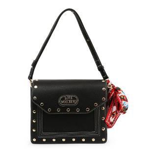 Love Moschino Black Scarf Accessory Shoulder Bag