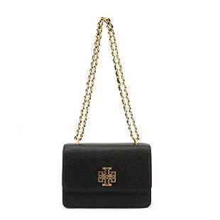 Tory Burch Black Gold Chain Shoulder Bag