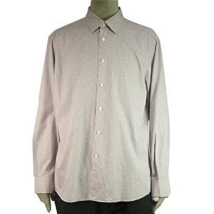 Ermenegildo Zegna Purple Grid Check Jacquard Shirt Long