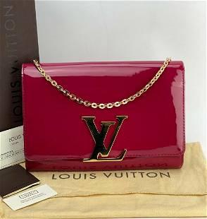 Louis Vuitton Louise Vernis Leather Magenta Crossbody