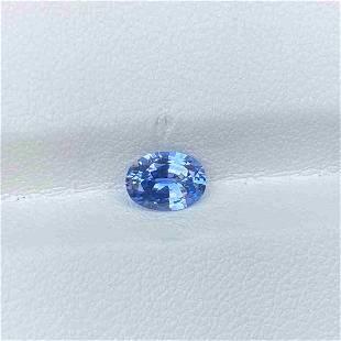 Natural Blue Sapphire 0.94 Cts Sri Lanka Oval Cut VVS