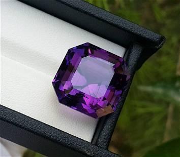 Amethyst, 31.40 Carats Natural Top Color Fancy Cut