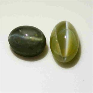 5.83 Cts Rare Gem ! Natural Chrysoberyl Gem 2-pcs