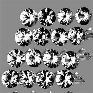 2.30 mm 16 pcs Round Brilliant Cut White Sapphire