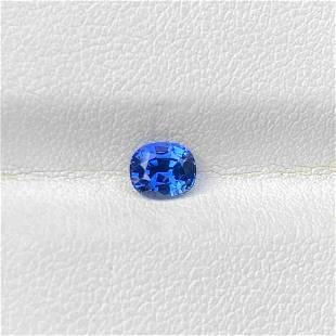 Natural Blue Sapphire 0.66 Cts Cushion Cut Madagascar