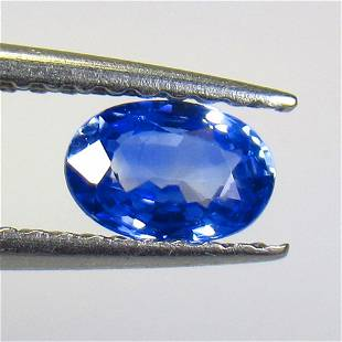 0.60 Ct Natural Ceylon Blue Sapphire Oval Cut
