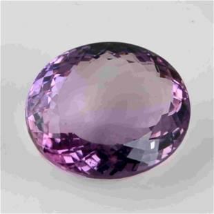 69.05 Carat Purple Color Natural Oval Amethyst 1 Pieces