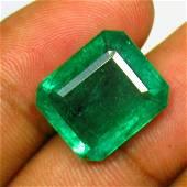 12.57 Ctw Natural Zambian Emerald Octagon Cut