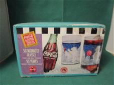 1997 Coca-Cola Winter Baby Polar Bear and Seal Glass