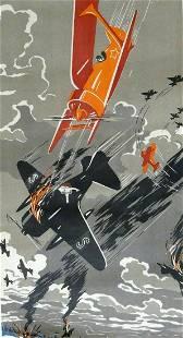Russian soviet original propaganda poster 1941