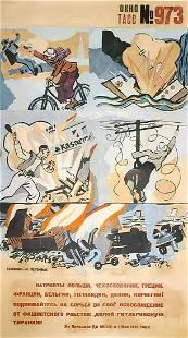 Russian soviet original propaganda poster 1943