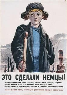 Russian soviet original propaganda poster 1944