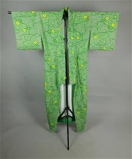 FLORAL GREEN COTTON KIMONO