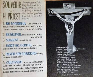 1950s-60s SCRAPBOOK - Catholic Holy Prayer Cards