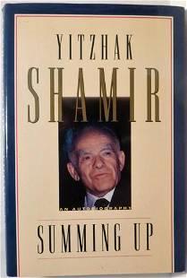Yitzhak Shamir- Signed 1st