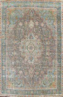 Modern Distressed Tabriz Persian Area Rug 10x13