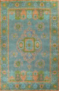 Modern Distressed Tabriz Persian Area Rug 8x11
