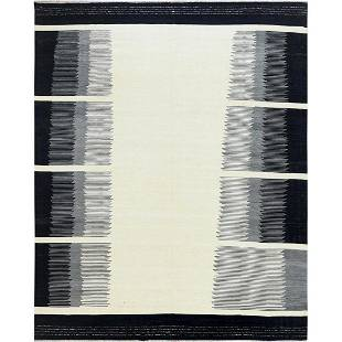 Handspun Wool Avant-Garde Design With Open Field Flat