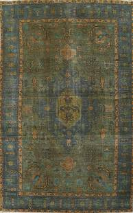 Modern Over-Dyed Tabriz Persian Area Rug 6x10