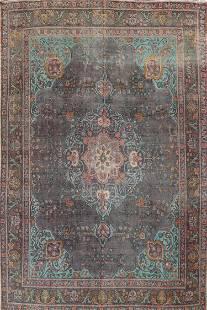 Modern Distressed Tabriz Persian Area Rug 9x12