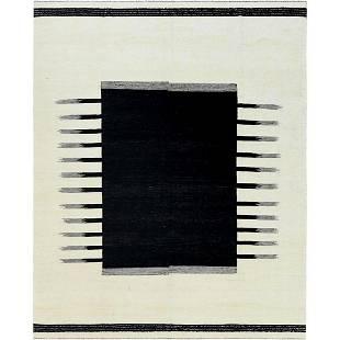 Hand Woven Avant-Garde Design Flat Weave Kilim Handspun