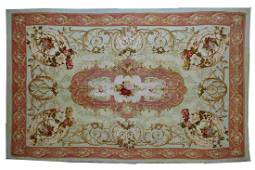 Handmade antique French Aubusson Napoleon the 3rd 4.6'