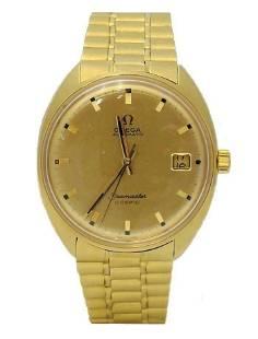 VINTAGE 750 18k YELLOW GOLD OMEGA SEAMASTER DATE COSMIC