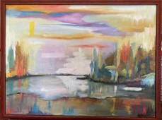Roya Mansourkhani, When You See All Colors, Oil,