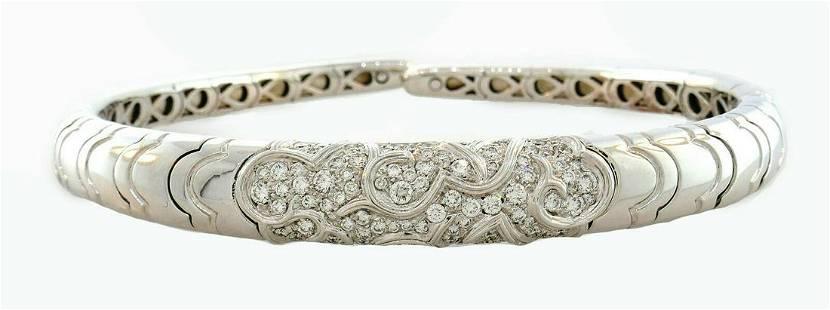 Vintage Marina B Diamond 18k White Gold Choker NECKLACE