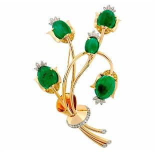 TRABERT & HOEFFER-MAUBOUSSIN Emerald Diamond Gold