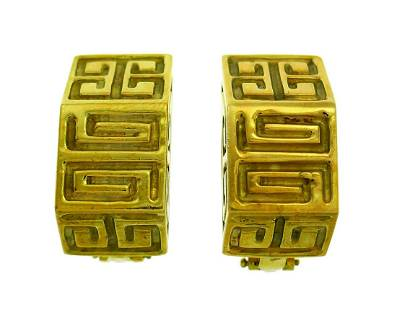 Vintage Wander Yellow Gold EARRINGS France Clip-On