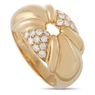 Chaumet 18K Yellow Gold 0.40 ct Diamond Ring
