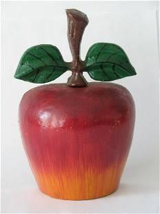Vintage cast iron apple doorstop.
