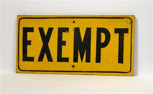 Exempt Sign, 1950