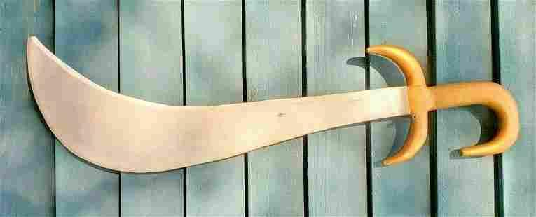 Wood wooden sword folk art knights templar movie prop